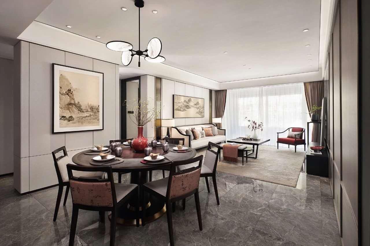 2021中式客厅装修设计 2021中式地砖装修效果图大全