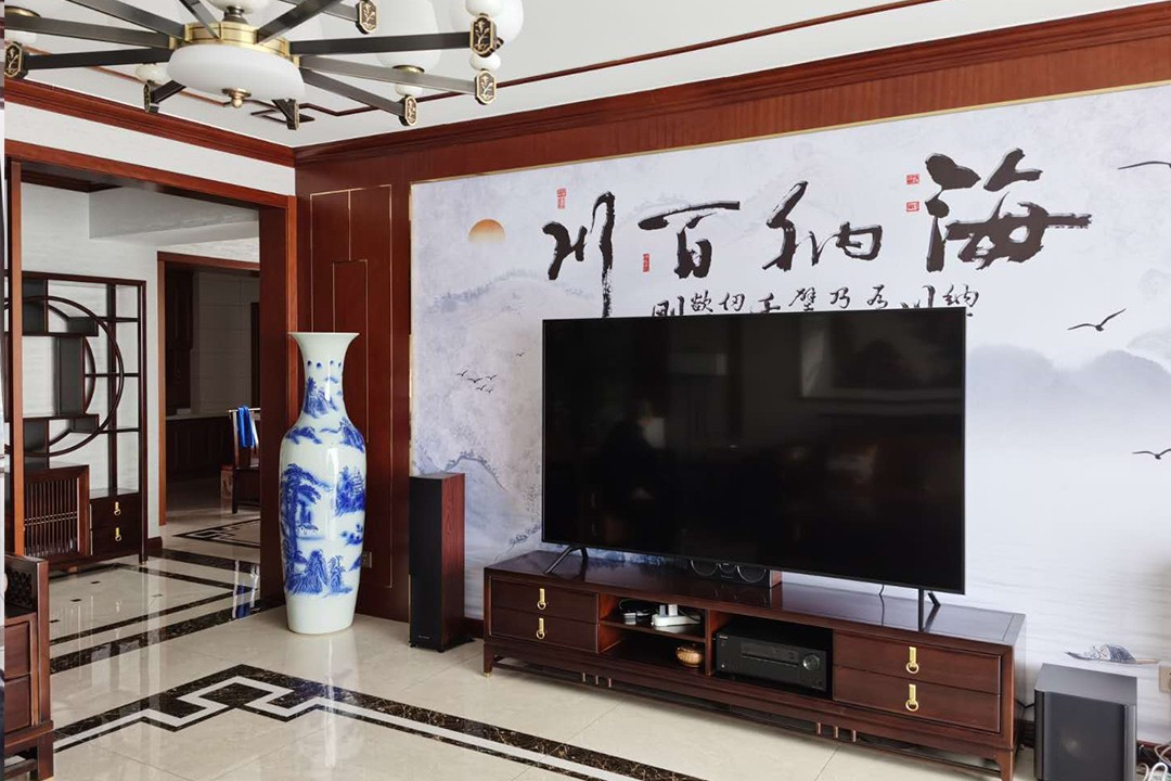 2021中式240平米装修图片 2021中式公寓装修设计