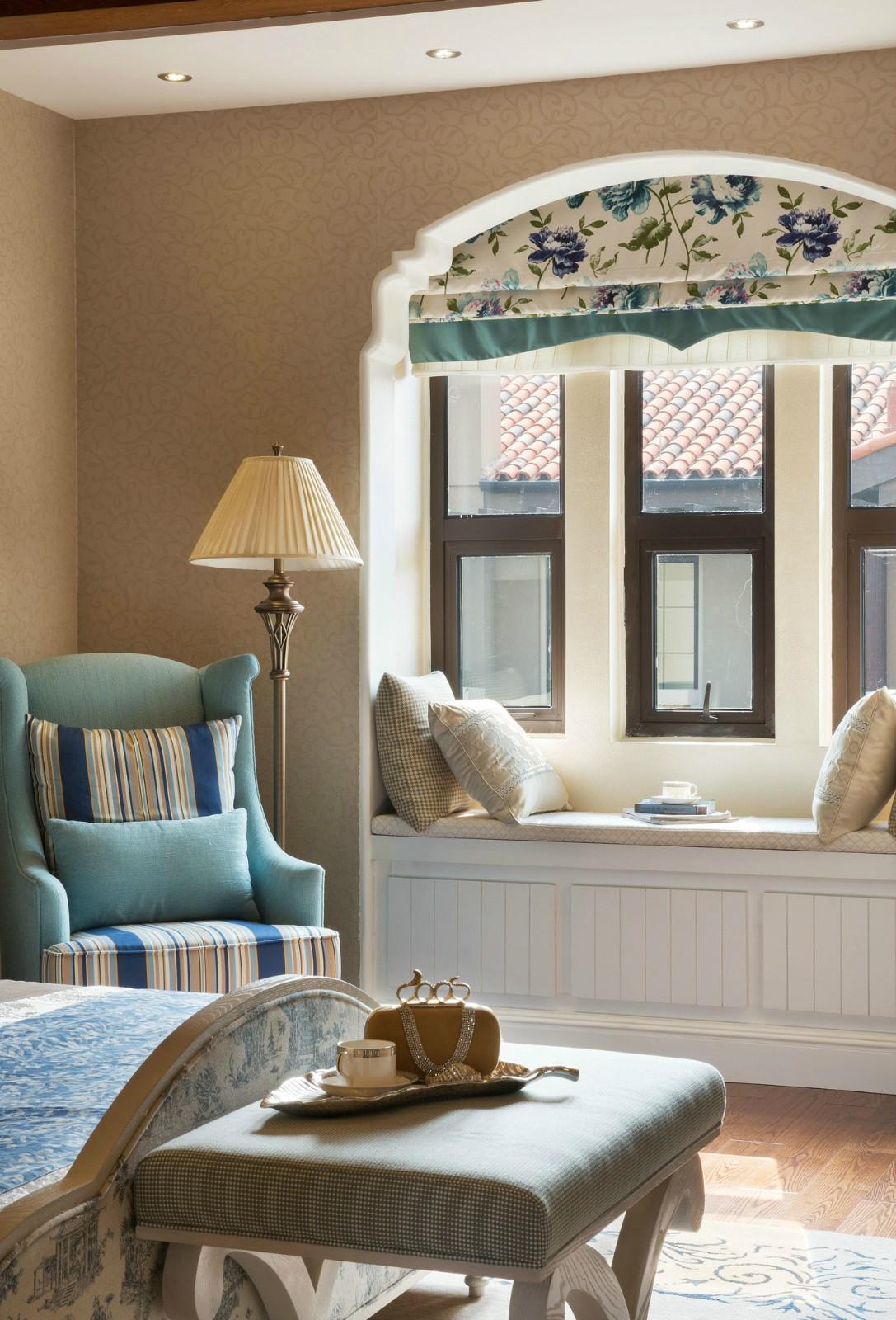 2021田园卧室装修设计图片 2021田园飘窗图片