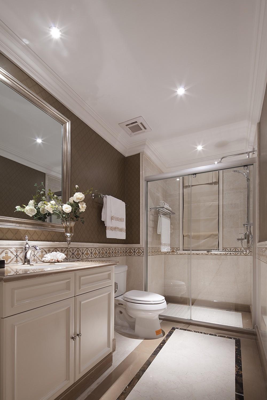 2021欧式卫生间装修图片 2021欧式浴室柜装修图