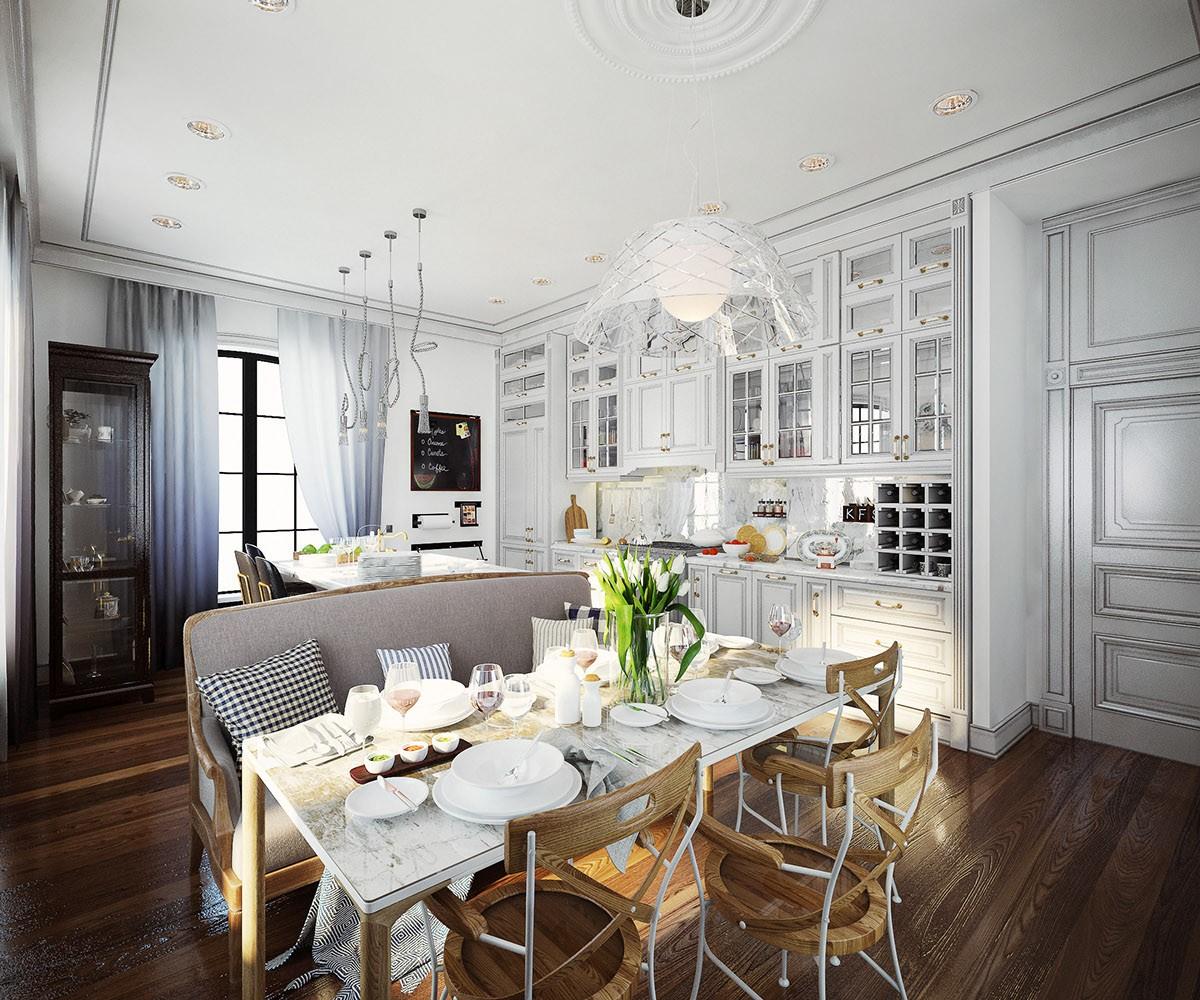 2020美式厨房装修图 2020美式背景墙装修效果图大全