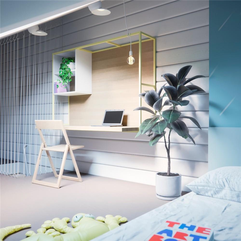 2021现代简约起居室装修设计 2021现代简约书架装修图片