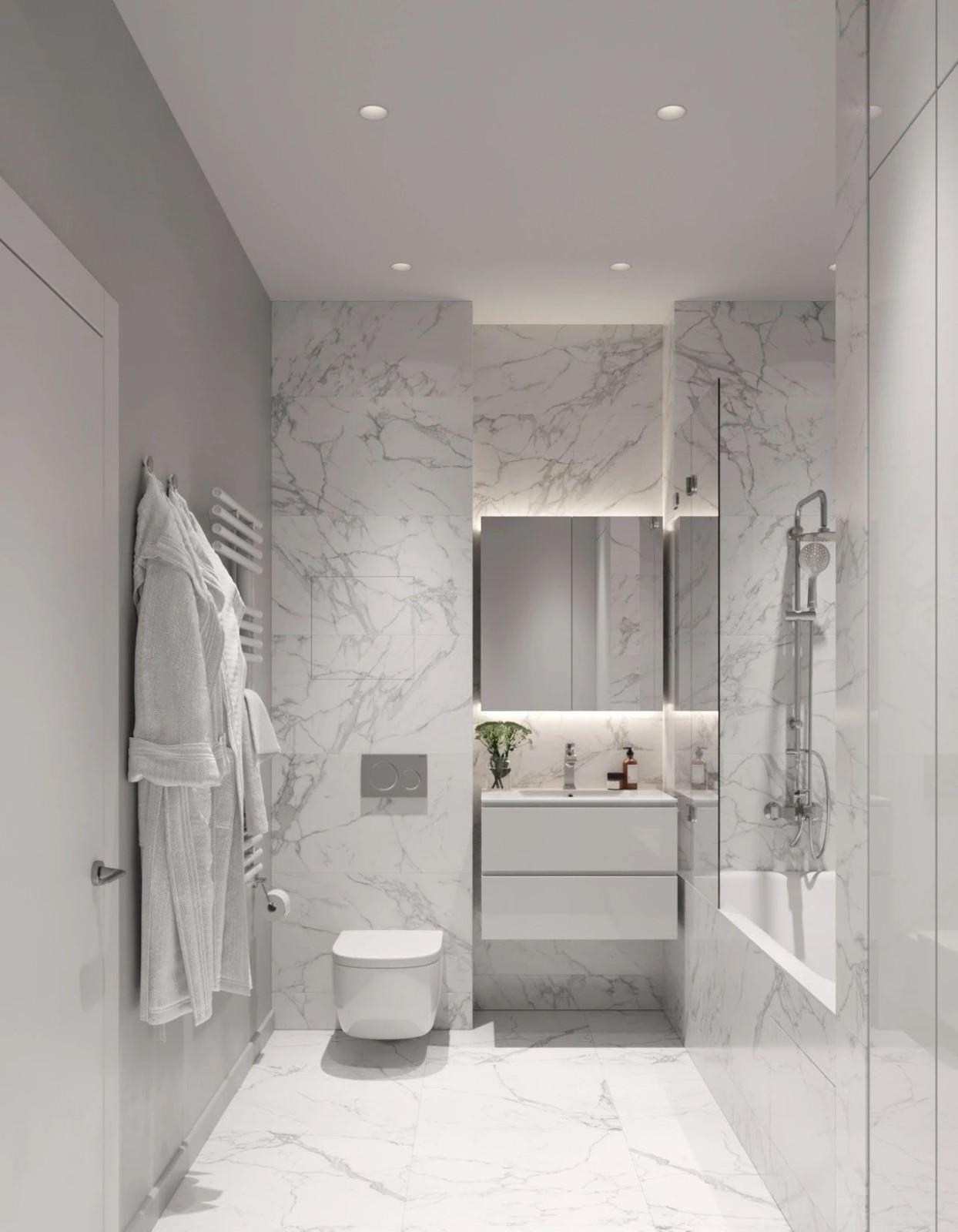 2021简约卫生间装修图片 2021简约浴室柜装修图