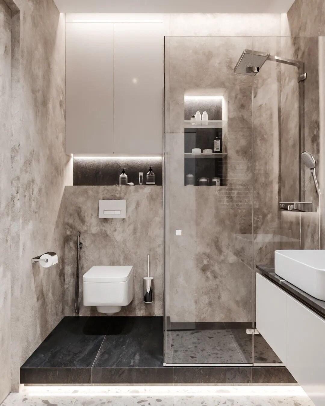 2021经典卫生间装修图片 2021经典地板砖装修设计