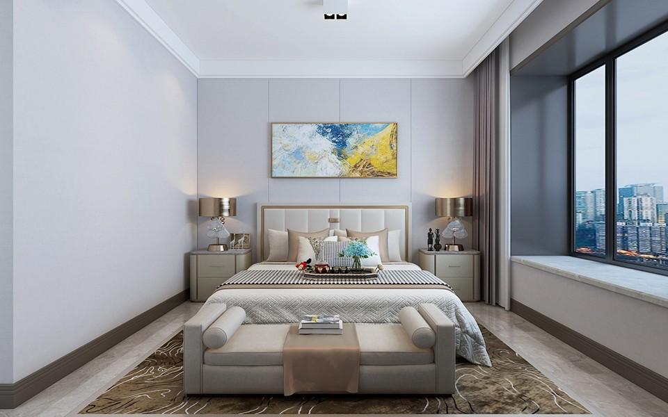 2020现代简约卧室装修设计图片 2020现代简约床装修效果图片