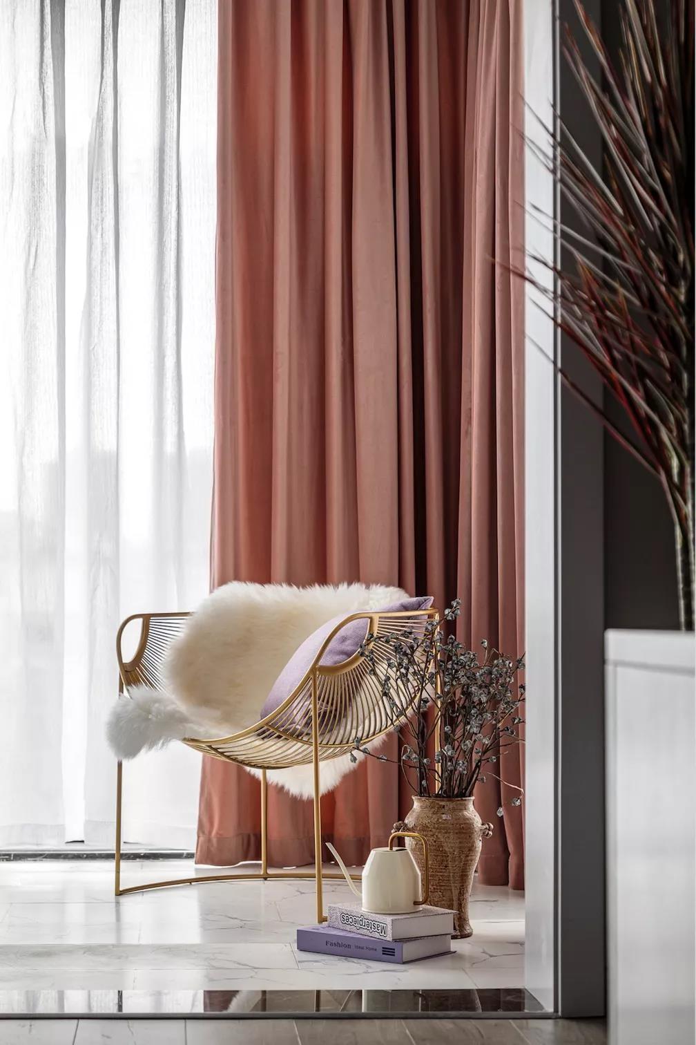 2021美式客厅装修设计 2021美式落地窗装修图片