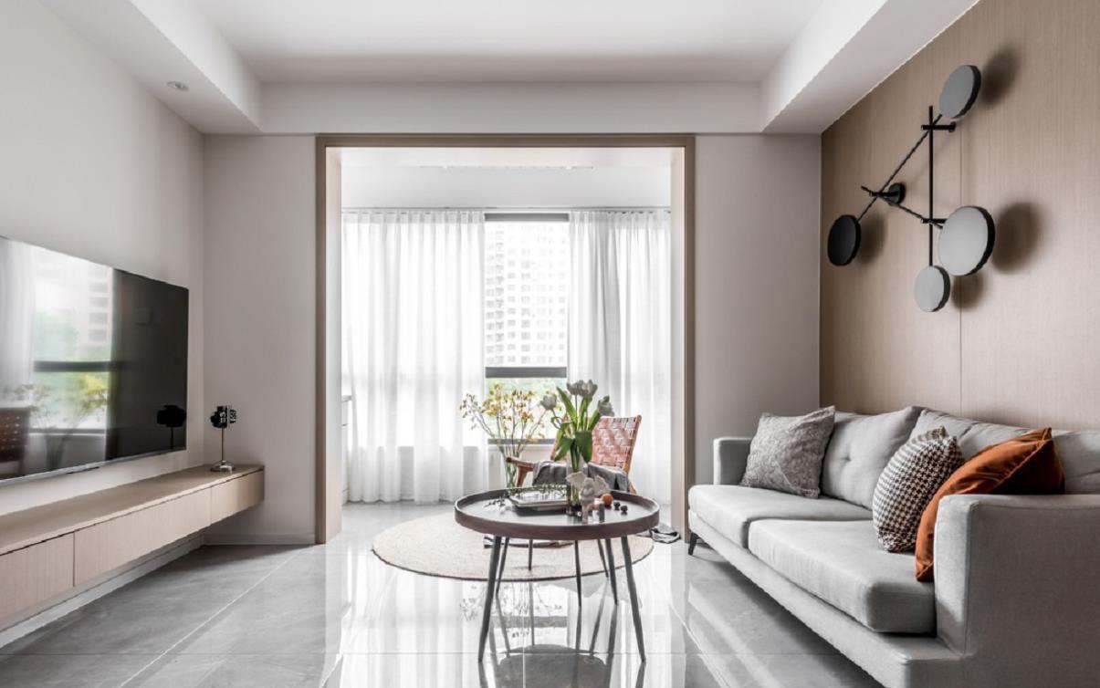 2021简约客厅装修设计 2021简约窗帘装修效果图片