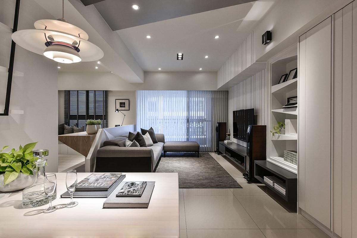 2021现代客厅装修设计 2021现代隔断图片