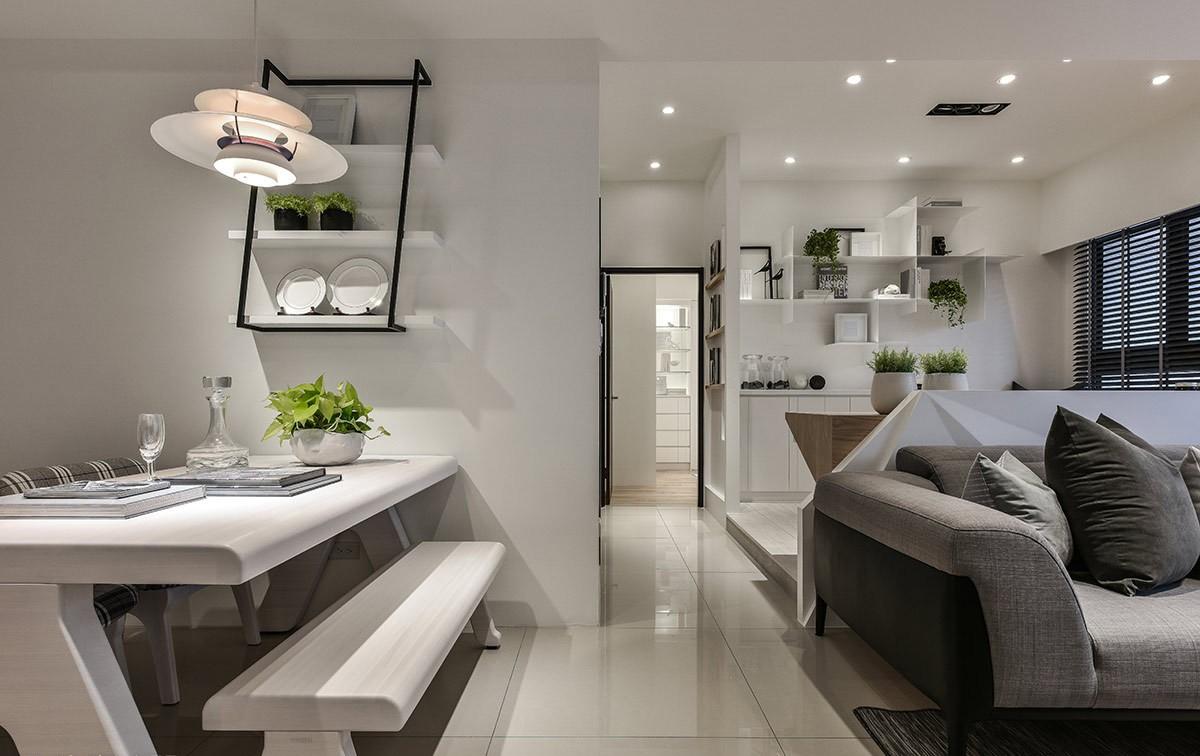 2021现代餐厅效果图 2021现代走廊装修设计图片