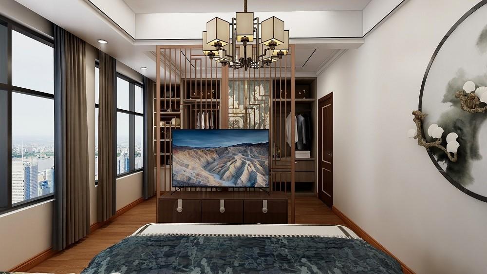 2021新中式卧室装修设计图片 2021新中式书架装修效果图大全