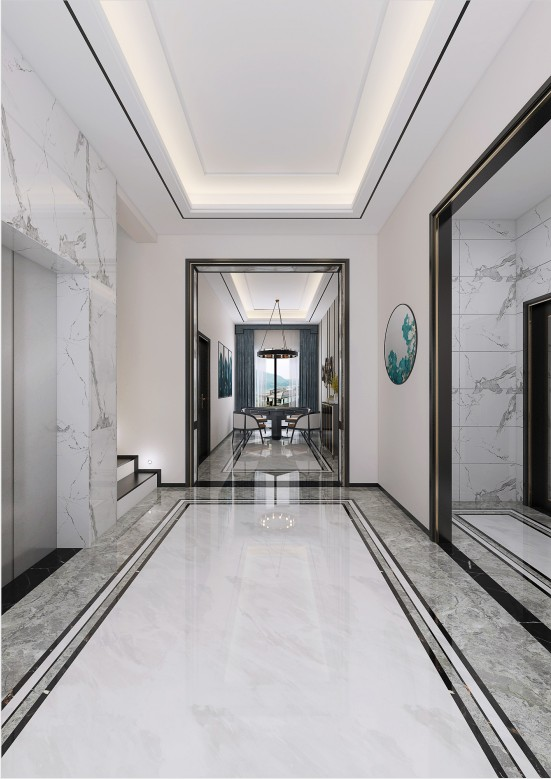 2021现代简约玄关图片 2021现代简约地板装修效果图片