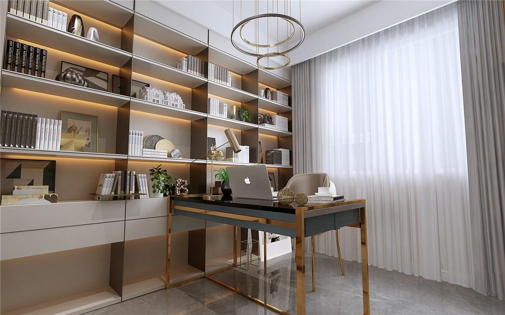 2021简约书房装修设计 2021简约书架装修图