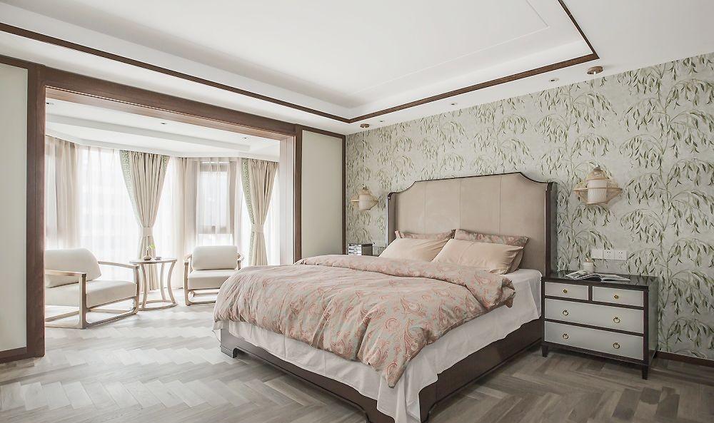 2021中式卧室装修设计图片 2021中式飘窗图片