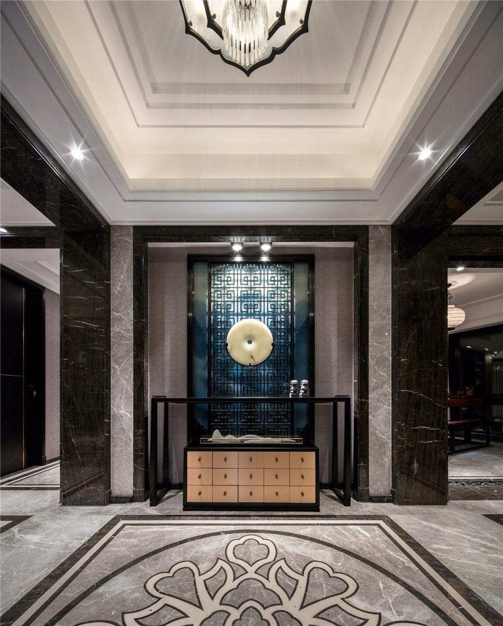 2021新中式玄关图片 2021新中式地板装饰设计