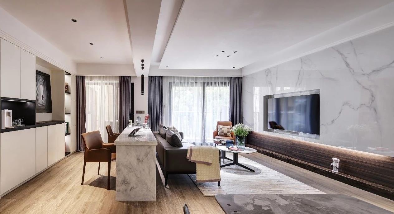 2021现代简约客厅装修设计 2021现代简约灯具设计图片