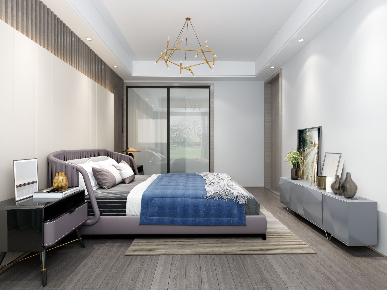 2021现代卧室装修设计图片 2021现代推拉门装修效果图大全
