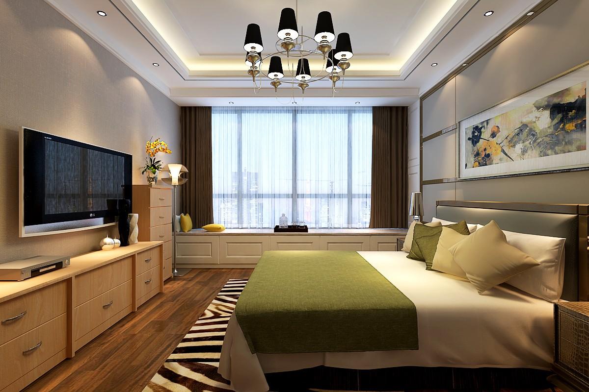 2021后现代卧室装修设计图片 2021后现代窗台图片