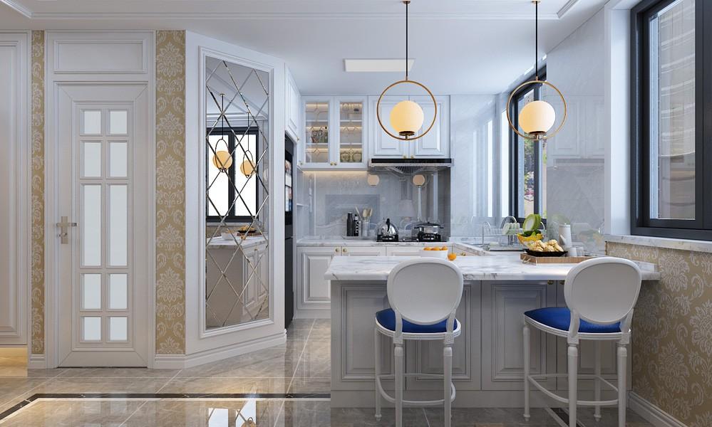 2021简欧厨房装修图 2021简欧厨房岛台装饰设计