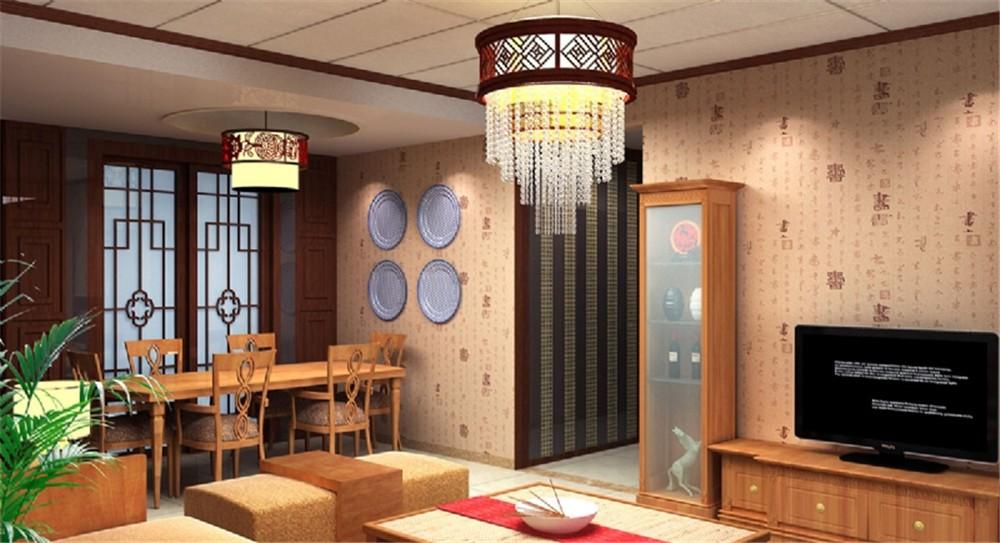 2021中式古典客厅装修设计 2021中式古典餐桌装修效果图片