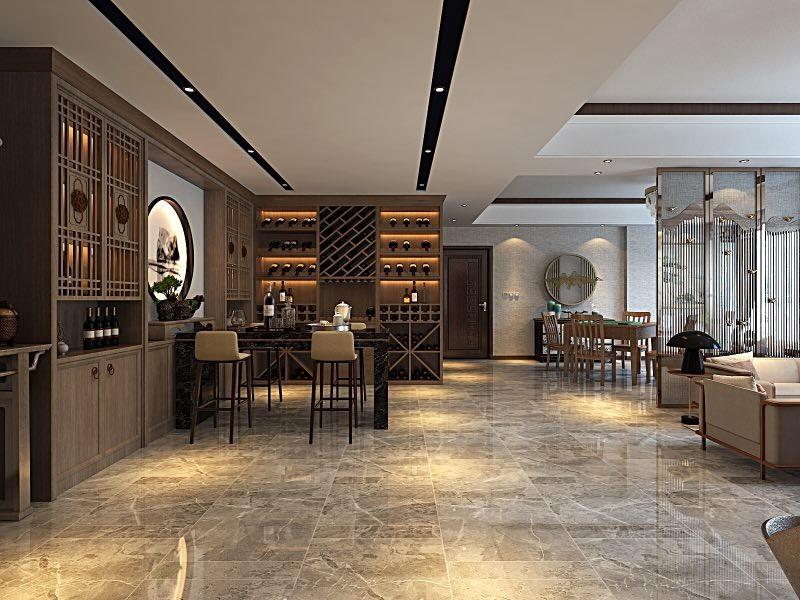 2021新中式客厅装修设计 2021新中式地板砖装修设计