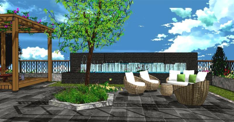 2021新中式阳台装修效果图大全 2021新中式地板砖装修设计