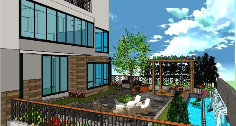 2021新中式阳台装修效果图大全 2021新中式落地窗效果图