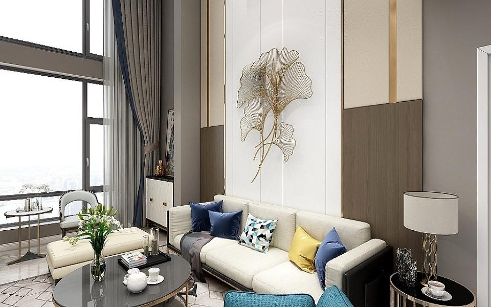 2021现代90平米装饰设计 2021现代跃层装修效果图片