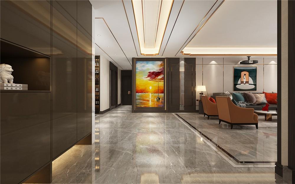 2021现代客厅装修设计 2021现代过道图片