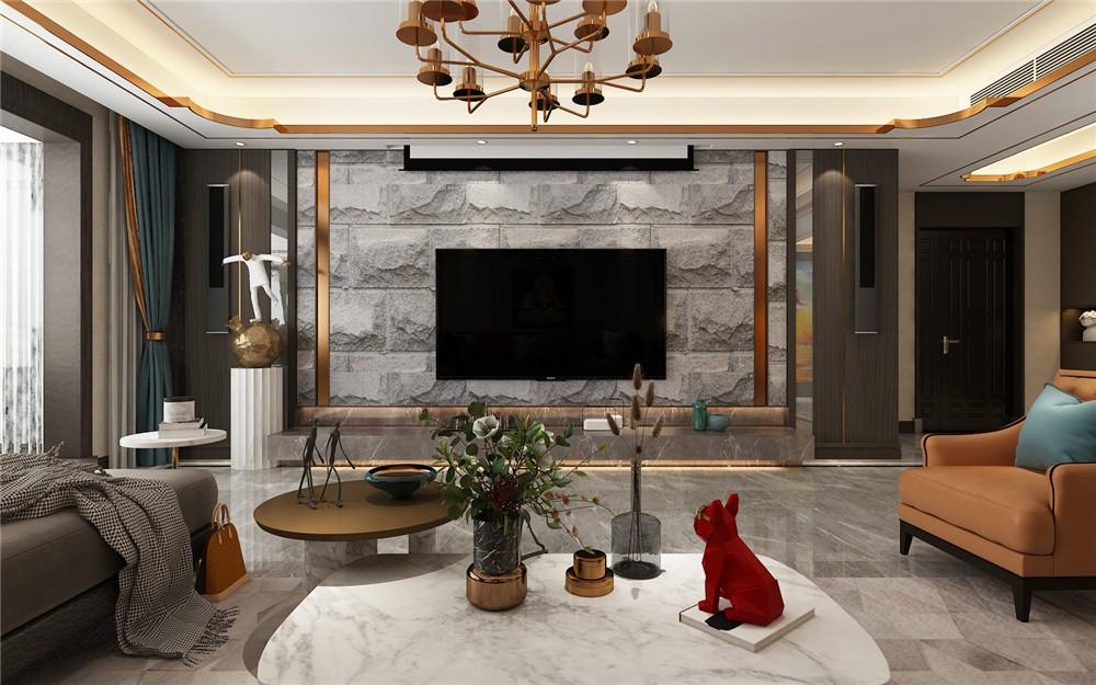 2020現代客廳裝修設計 2020現代背景墻圖片