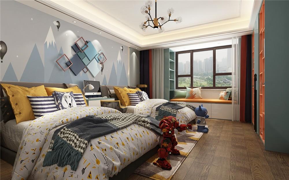 2020現代兒童房裝飾設計 2020現代床效果圖