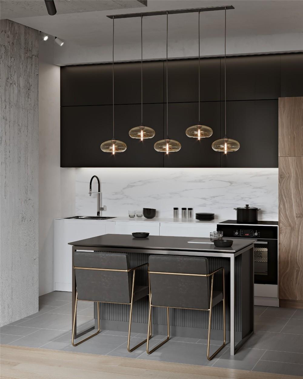 2021现代餐厅效果图 2021现代灯具设计图片