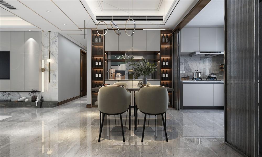 2021简单客厅装修设计 2021简单博古架装修图片