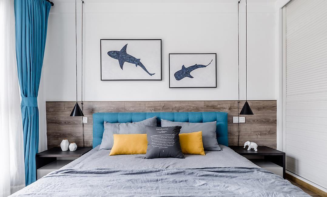 2021北欧卧室装修设计图片 2021北欧床头柜装修设计图片