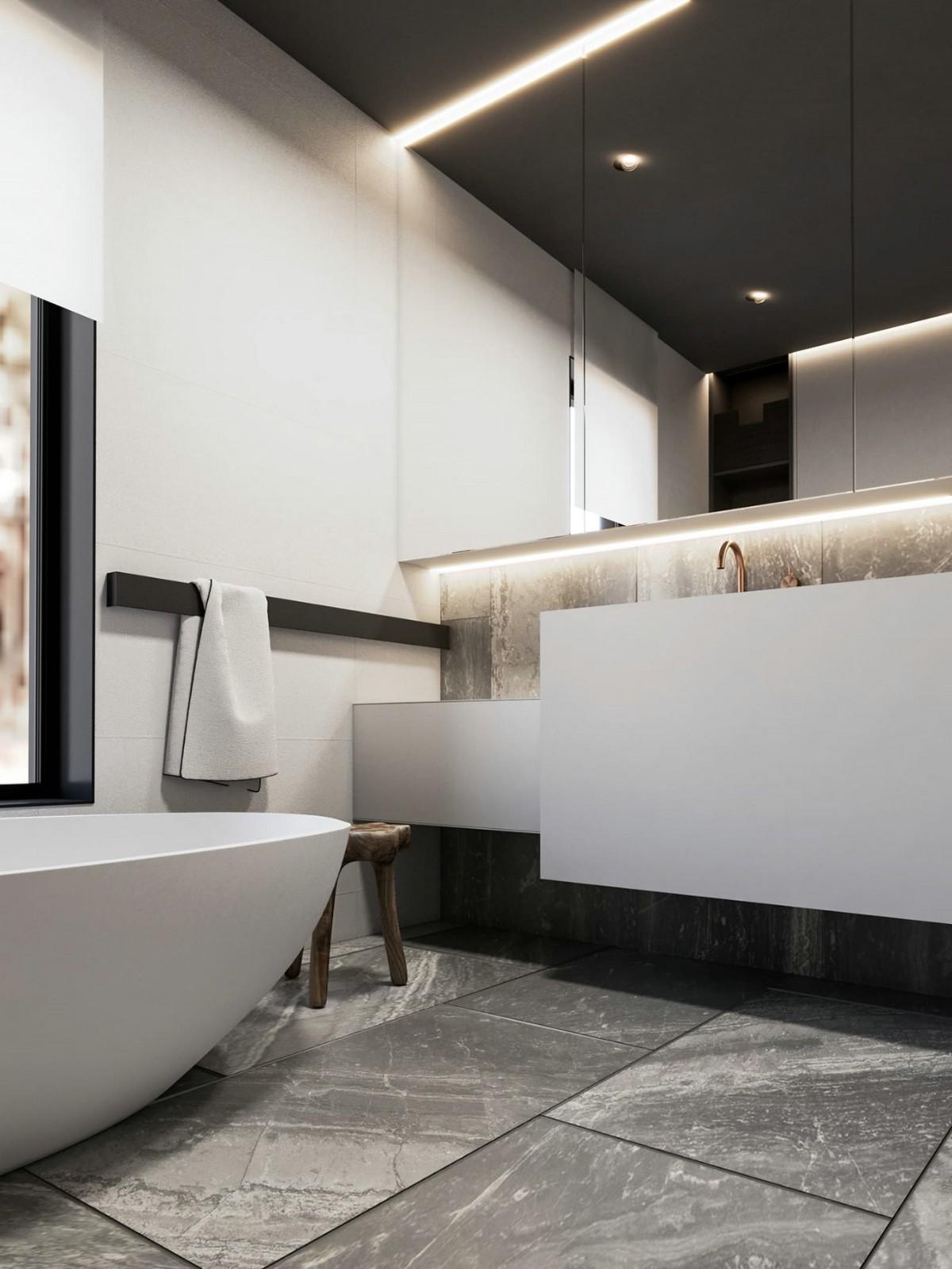 2021北欧卫生间装修图片 2021北欧浴缸装修设计