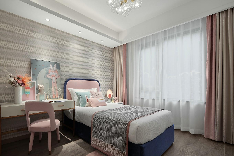 2021现代儿童房装饰设计 2021现代床装修效果图片