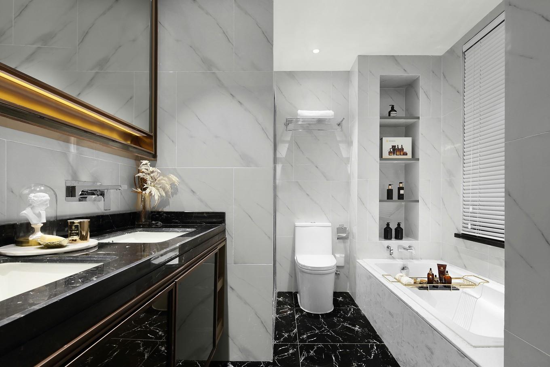 2021现代卫生间装修图片 2021现代浴缸装修设计