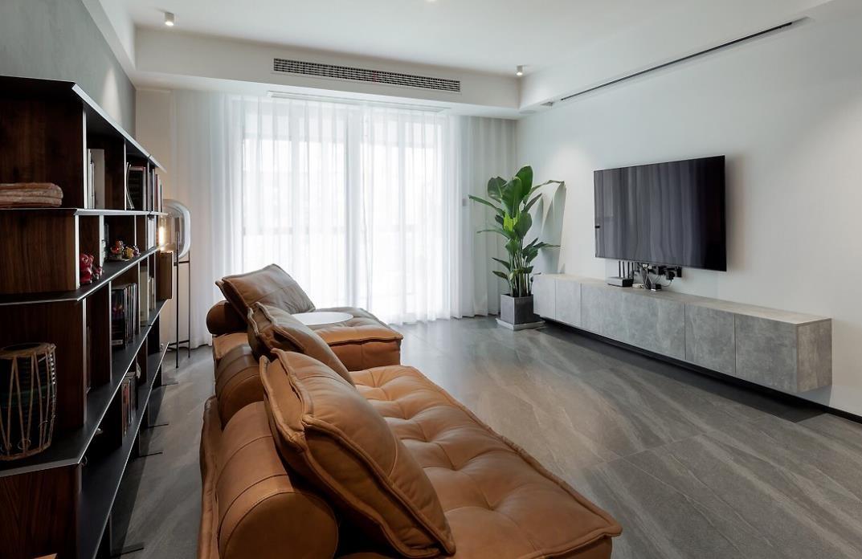 2021现代客厅装修设计 2021现代落地窗效果图