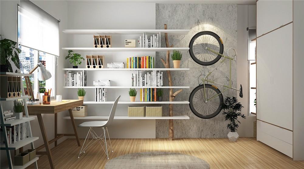 2021北欧书房装修设计 2021北欧书架装修图片