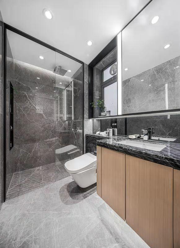 2021现代简约卫生间装修图片 2021现代简约地板砖设计图片