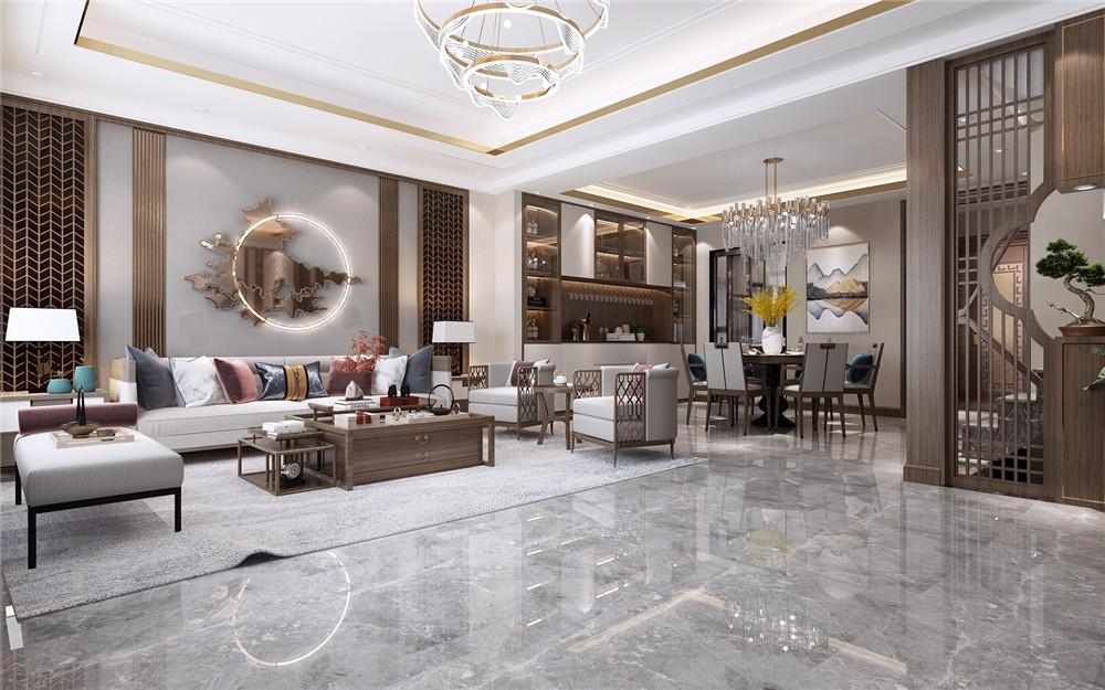 2021中式客厅装修设计 2021中式地板效果图