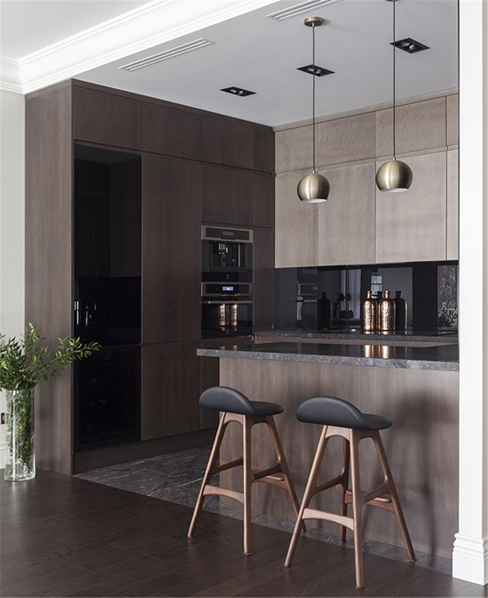 2021现代简约厨房装修图 2021现代简约吧台装饰设计