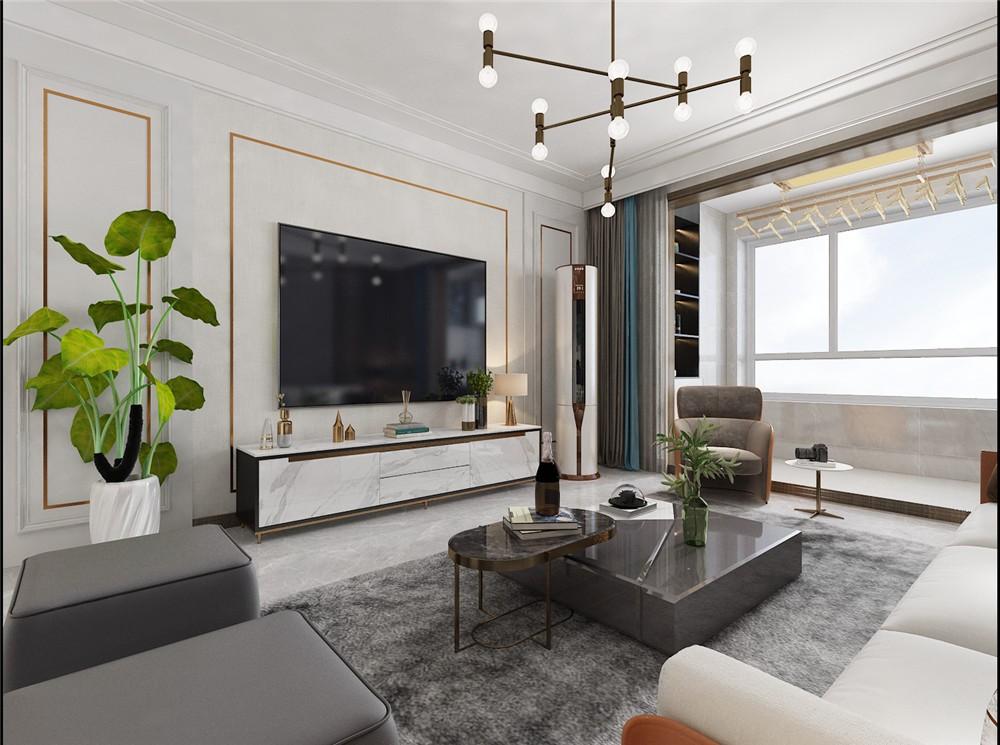 2021后现代客厅装修设计 2021后现代背景墙图片