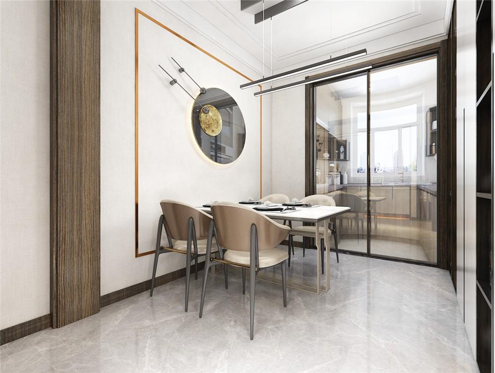 2021后现代餐厅效果图 2021后现代地板砖设计图片
