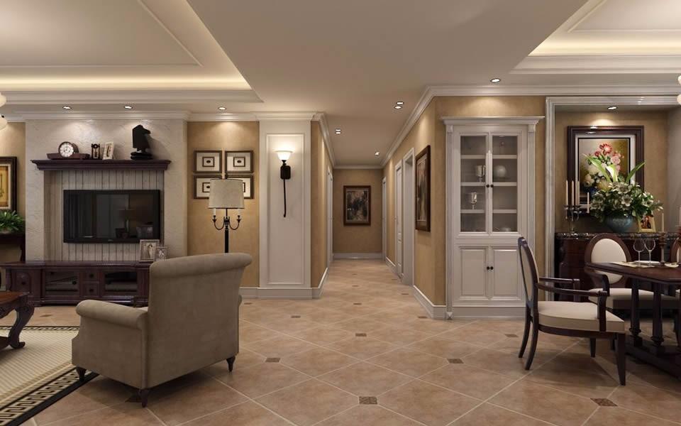 2021美式玄关图片 2021美式走廊装修效果图片