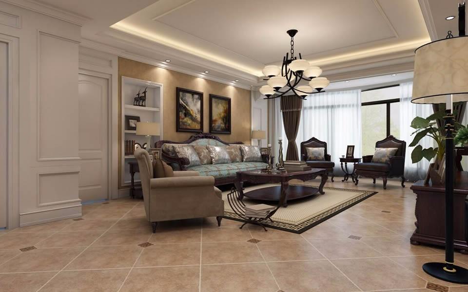 2021美式客厅装修设计 2021美式窗台设计图片
