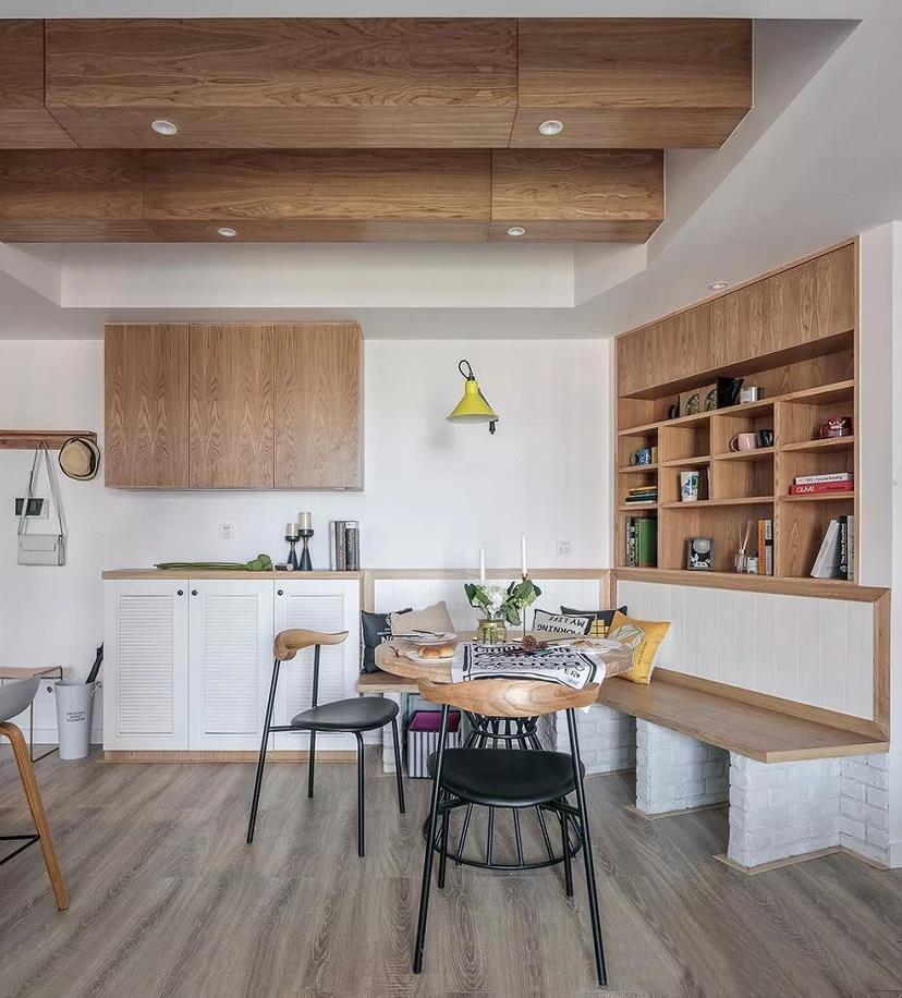 2021北欧餐厅效果图 2021北欧地板装饰设计