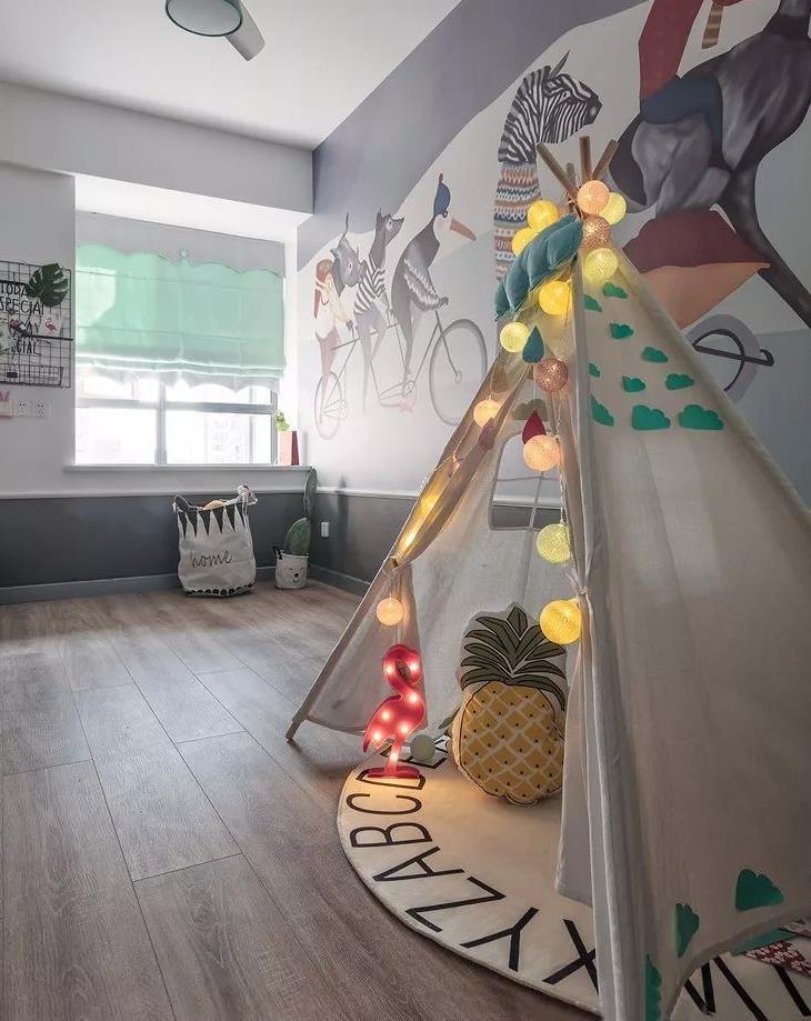 2021北欧儿童房装饰设计 2021北欧背景墙装修设计