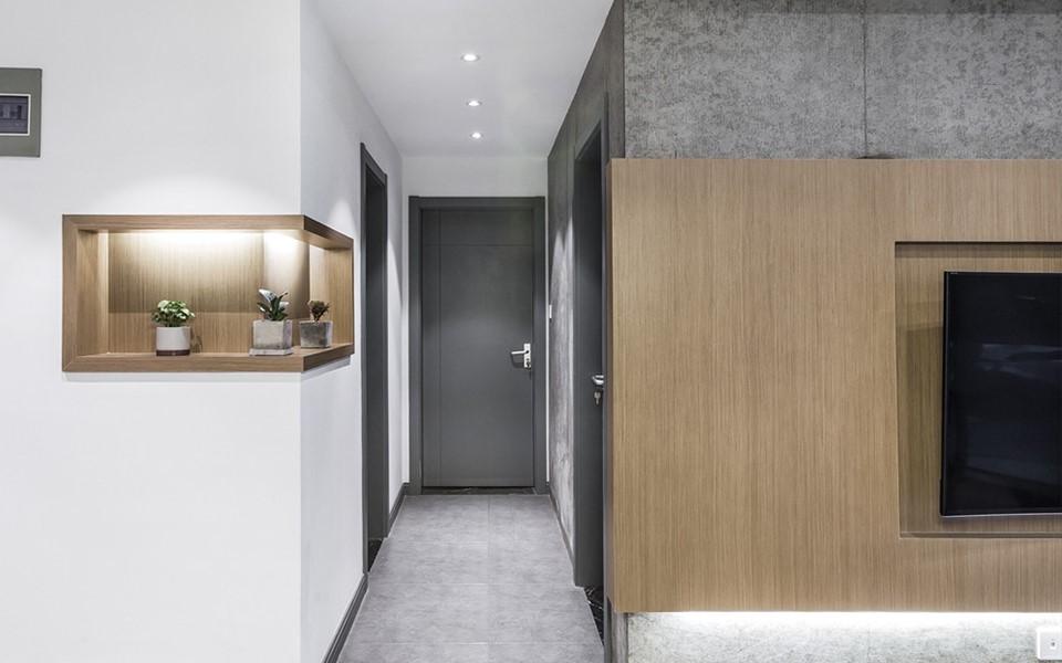 北欧风格98平米三居室新房装修效果图