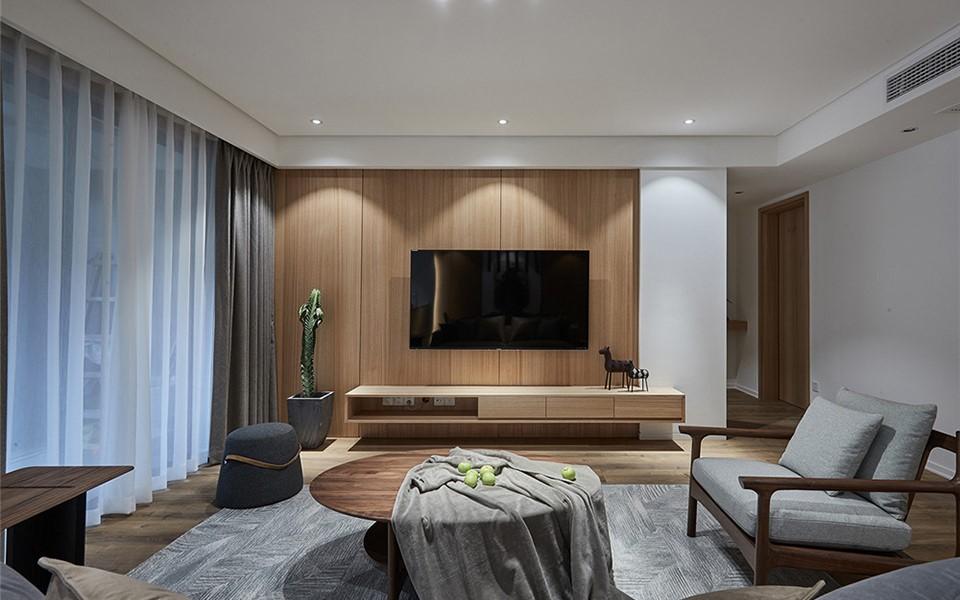 极简混搭风格135平四居室装修效果图