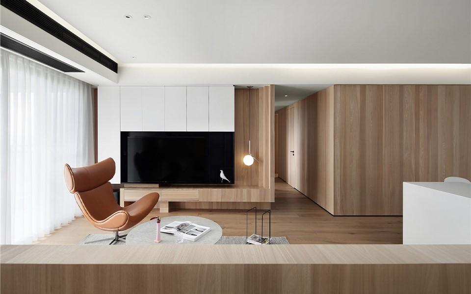 北欧风格132平三居室装修效果图